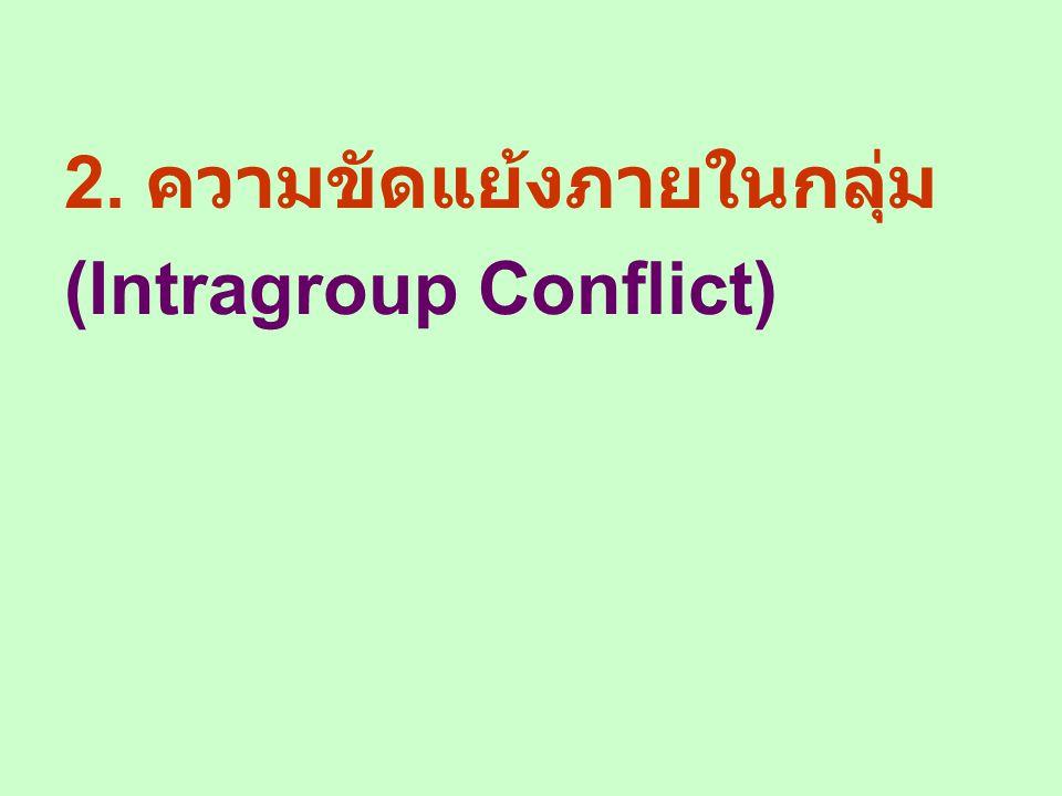 2. ความขัดแย้งภายในกลุ่ม (Intragroup Conflict)