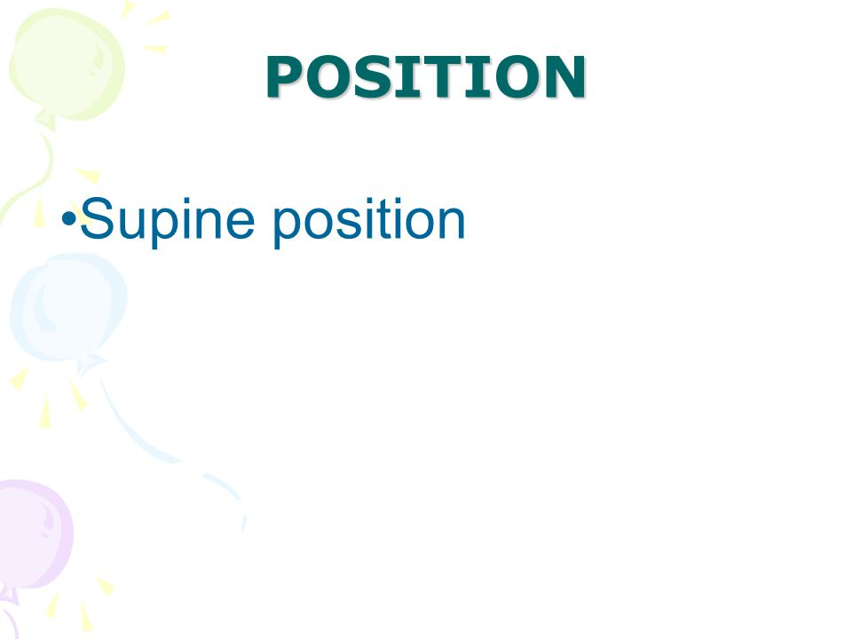 Supine position POSITION