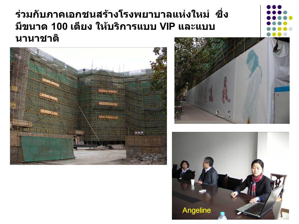 ร่วมกับภาคเอกชนสร้างโรงพยาบาลแห่งใหม่ ซึ่ง มีขนาด 100 เตียง ให้บริการแบบ VIP และแบบ นานาชาติ Angeline