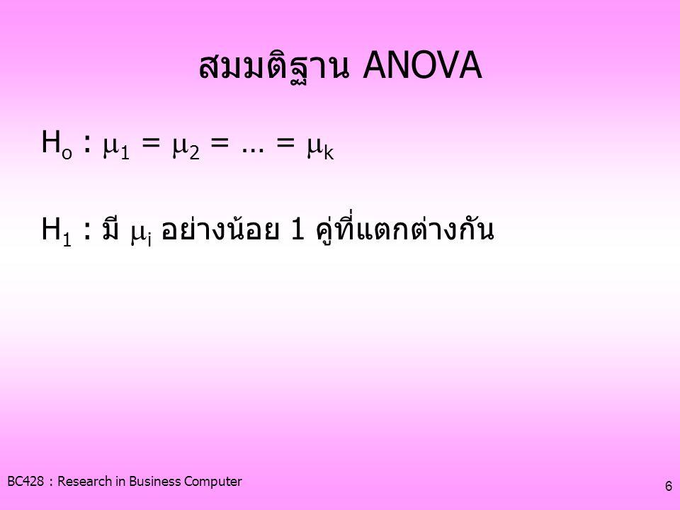 BC428 : Research in Business Computer 7 ลักษณะของคำถามในแบบสอบถาม 1.