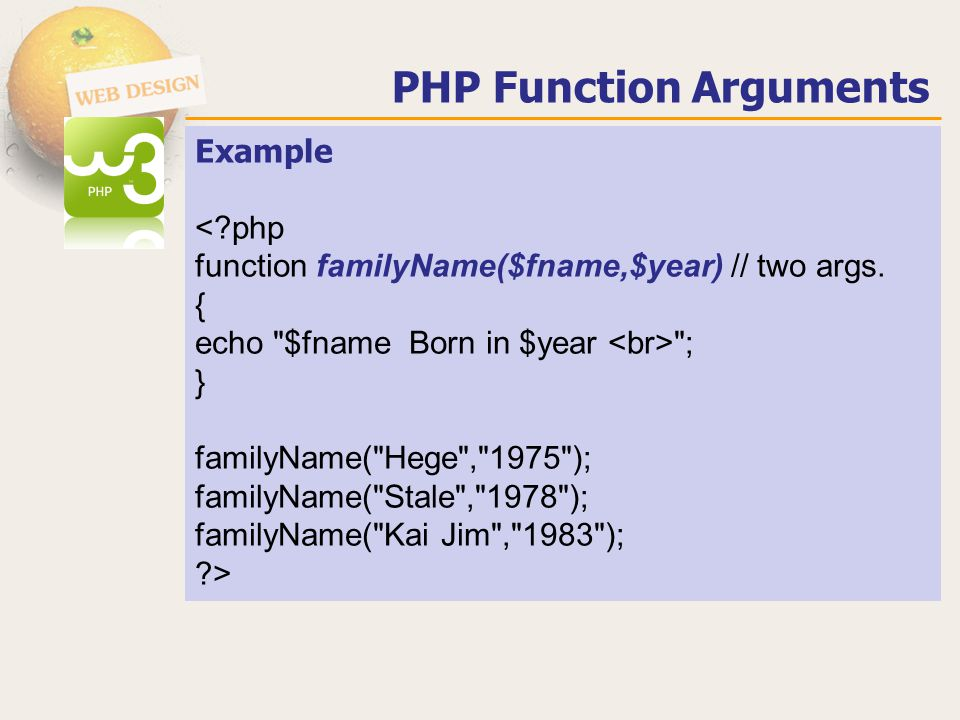 PHP Variables Scope