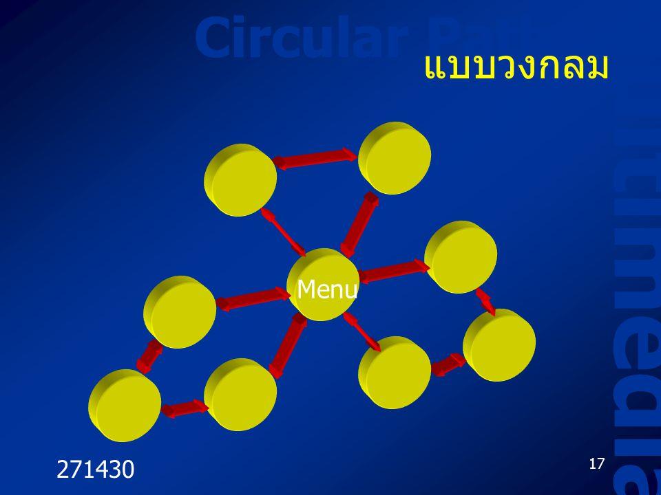 271430 17 Circular Paths Multimedia แบบวงกลม Menu