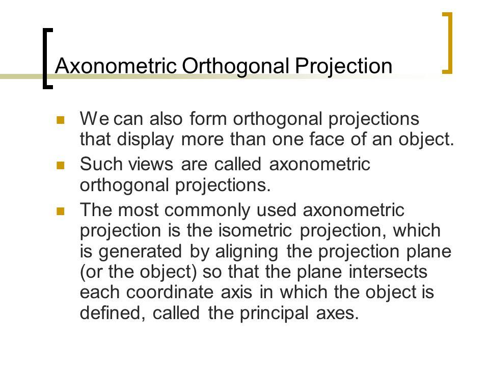 x z y x z y Isometric Projection