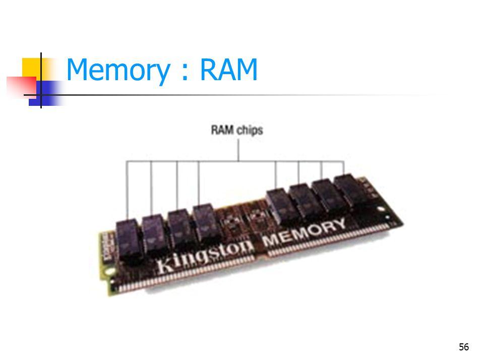 56 Memory : RAM