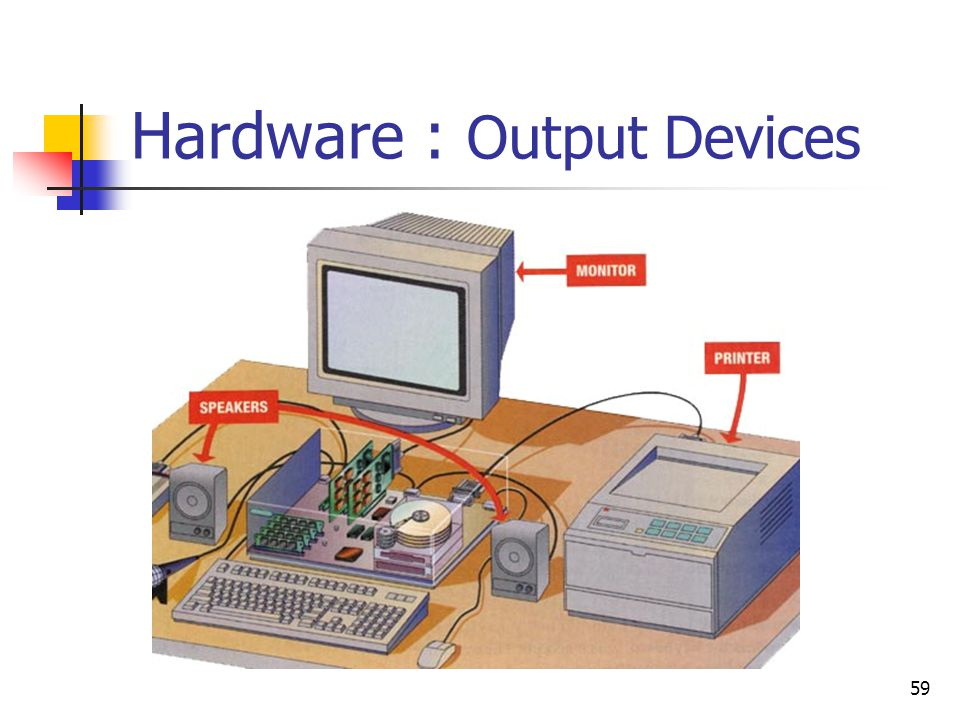 59 Hardware : Output Devices