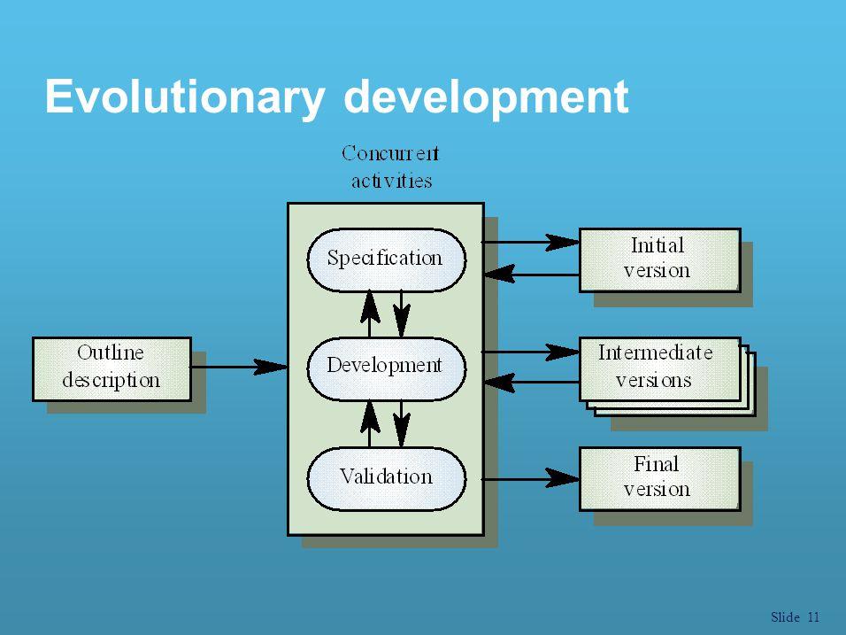 Slide 11 Evolutionary development