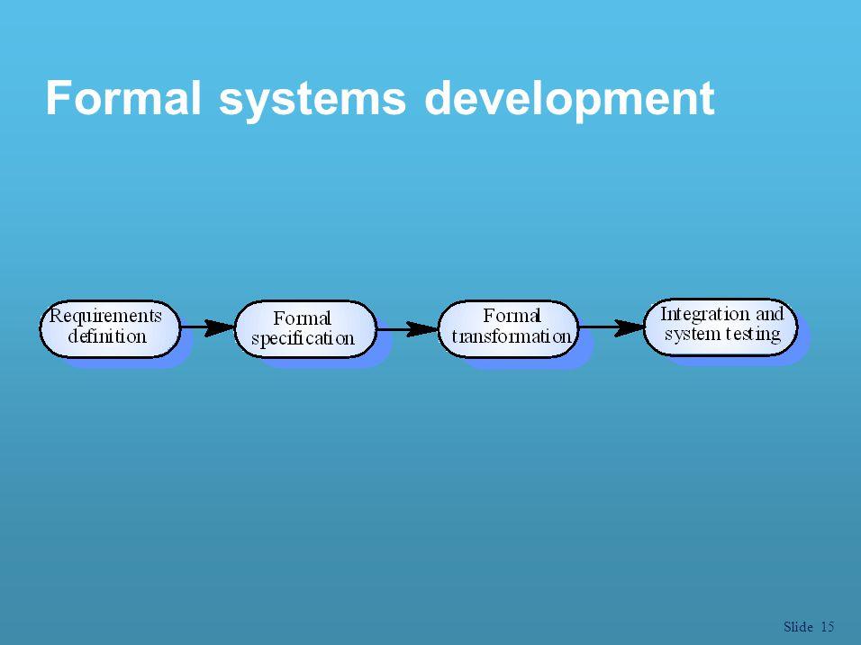 Slide 15 Formal systems development