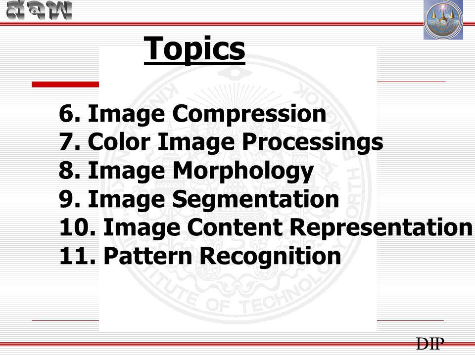 สัปดาห์ ที่ เนื้อหาวิชาหมายเหตุ 1 บทนำ (Introduction), การใช้งาน Matlab ฝึกเขียนโปรแกรม อ่าน เก็บ แสดง และประมวลผลภาพเบื้องต้น การบ้าน 1 2 การประมวลผลภาพเบื้องต้นการบ้าน 2 3 การประมวลผลภาพเบื้องต้นการบ้าน 3 4 การปรับปรุงคุณภาพของภาพให้รายละเอียด Project 5 การปรับปรุงคุณภาพของภาพการบ้าน 4 6 การเรียกคืนคุณภาพของภาพ Bonus HW 01 7Morphological Image Processing การบ้าน 5 8 สอบกลางภาคเรียน