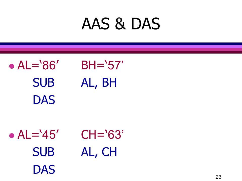 23 AAS & DAS l AL='86'BH='57' SUBAL, BH DAS l AL='45'CH='63' SUBAL, CH DAS