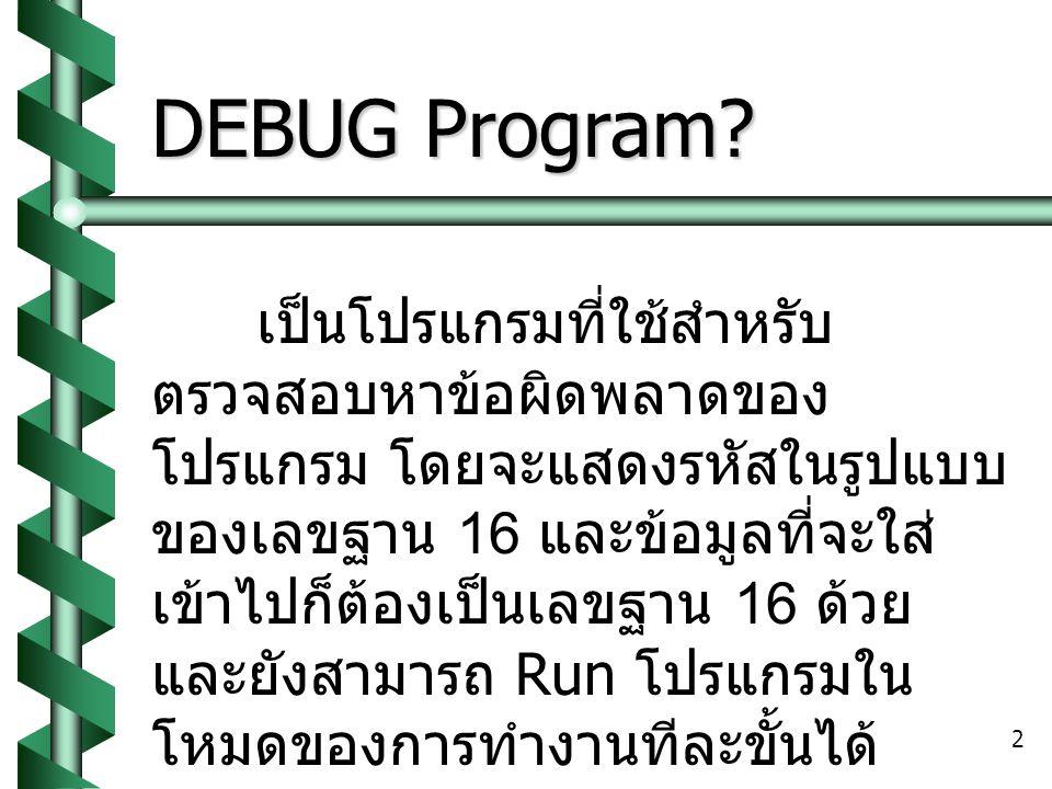 2 DEBUG Program.