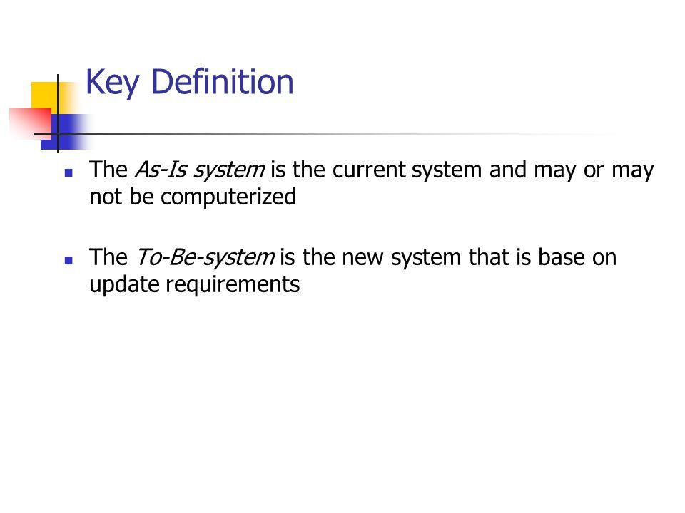 Key Ideas เป้าหมายของขั้นตอนวิเคราะห์คือ เข้าใจความต้องการที่แท้จริง ของระบบใหม่ และตัดสินใจว่าจะพัฒนาระบบตามความต้องการ หรือไม่