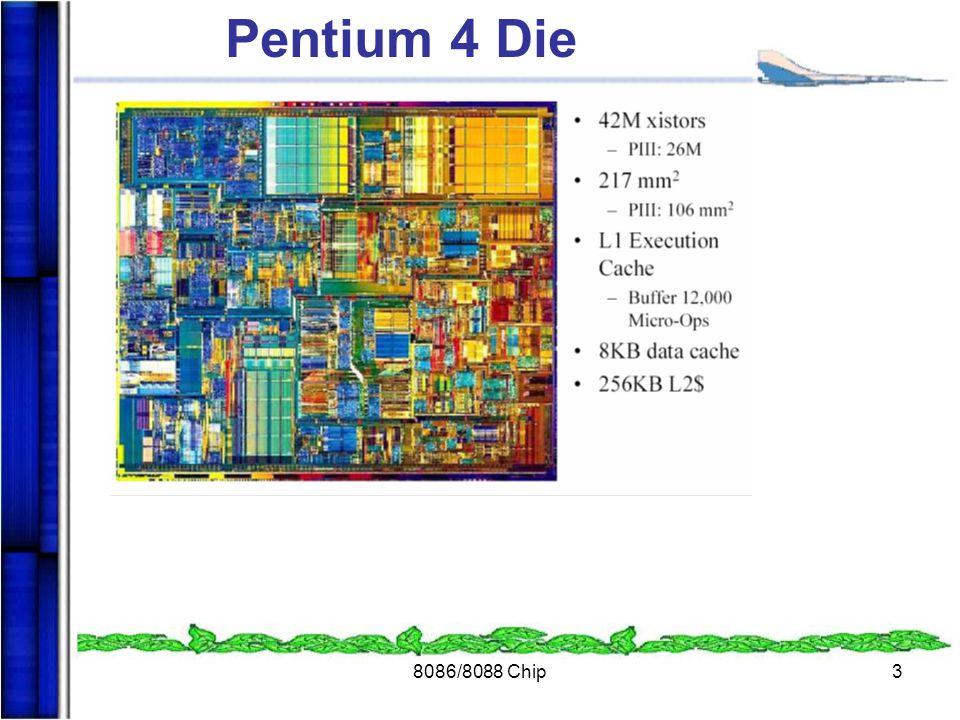 8086/8088 Chip3 Pentium 4 Die