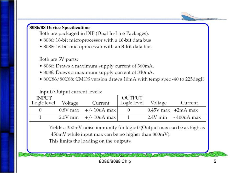 8086/8088 Chip16  สามารถสร้างได้โดยวงจร Schmitt trigger และ D flip-flop  ส่วนที่สร้างสัญญาณที่ต่ออยู่กับขา RES ของ 8284 ใช้หลักการของวงจร RC Time Constance หรือ power on reset  การทำงานของวงจรจะใช้ช่วงเวลาของ วงจร RC time constant ไม่เกิน 50us ซึ่งทำให้เกิด สัญญาณ Plus  ช่วงการทำงานของสัญญาณ RES จะอยู่ ระหว่าง 1.05V - 2.6V การสร้างสัญญาณ RESET ของ 8284