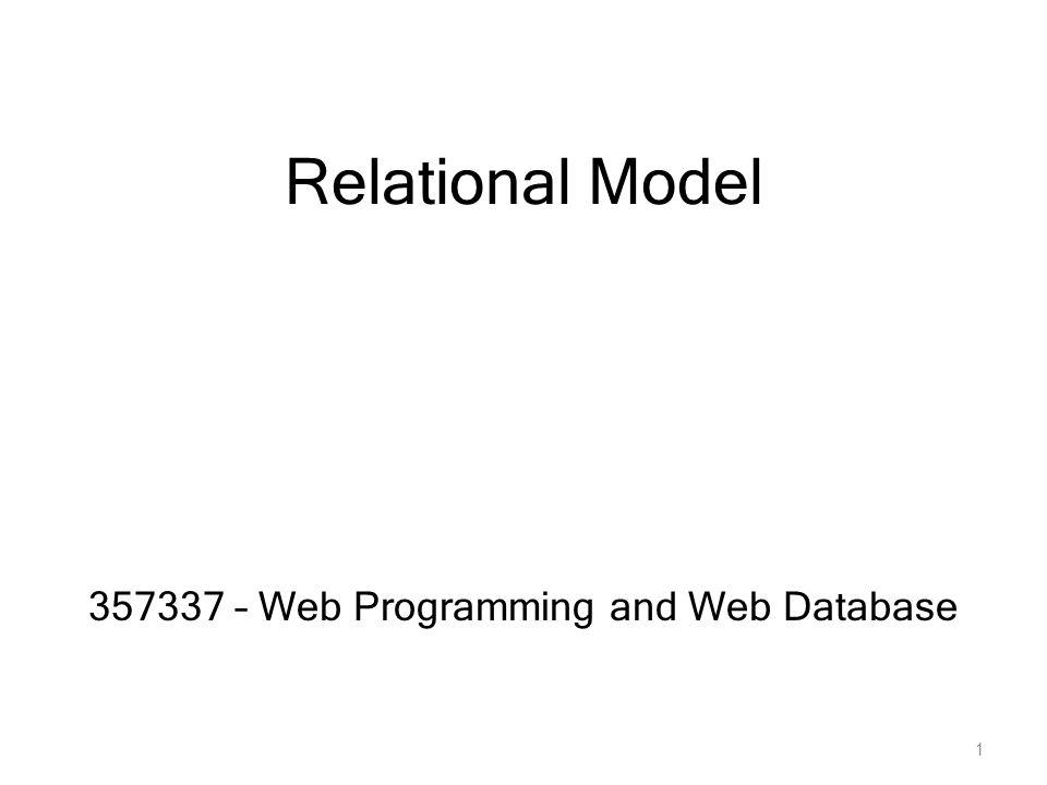 Relational Model โมเดลเชิงสัมพันธ์ (Relational Model) แสดงข้อมูลรวมทั้ง ความสัมพันธ์ระหว่างข้อมูล ให้อยู่ในรูปของ ตาราง ซึ่ง ตารางในที่นี้จะหมายถึง ตาราง 2 มิติ ที่มี แถว (row) และ คอลัมน์ (column) ตาราง (Tables) อาจเรียกได้อีกอย่างว่า Relations ระบบฐานข้อมูลแบบ Relational ประกอบจาก set ของตาราง (Tables) ในแต่ละ Table ประกอบด้วย Columns (Fields หรือ Attributes) 2