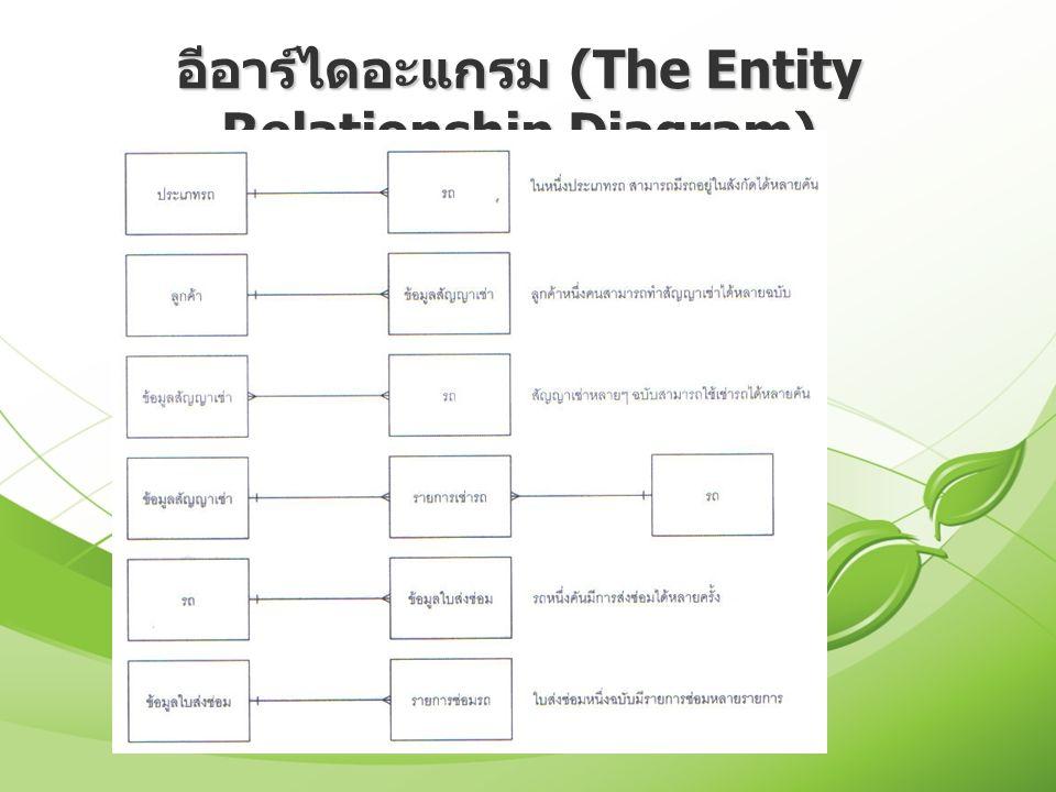 อีอาร์ไดอะแกรม (The Entity Relationship Diagram)