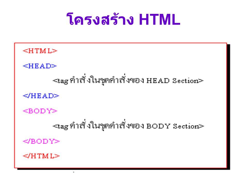 โครงสร้าง HTML