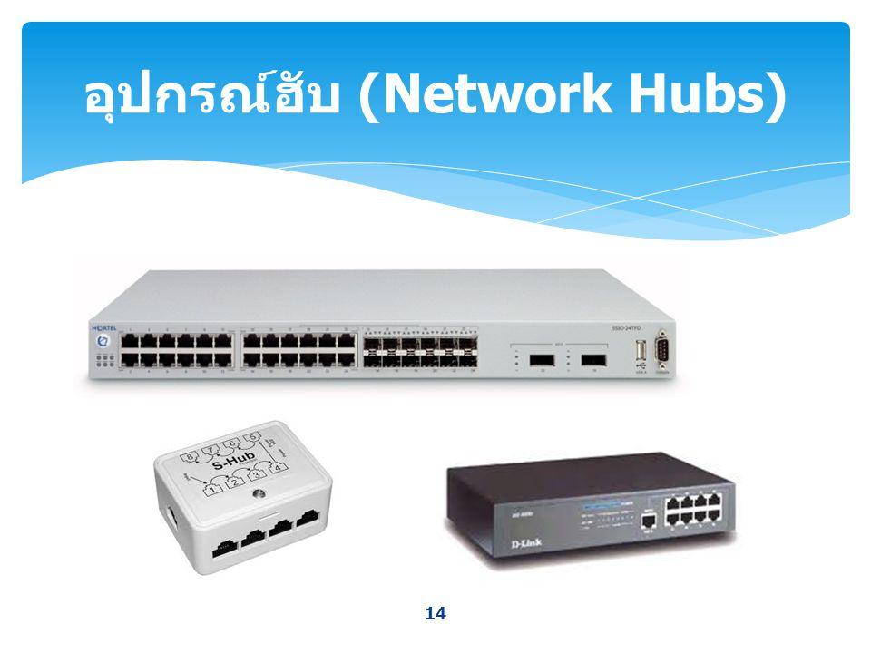 14 อุปกรณ์ฮับ (Network Hubs)