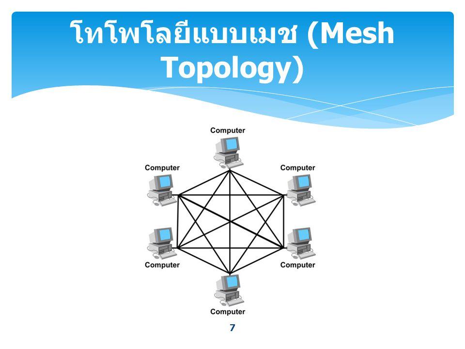 8 โทโพโลยีแบบเมช (Mesh Topology) ( ต่อ )