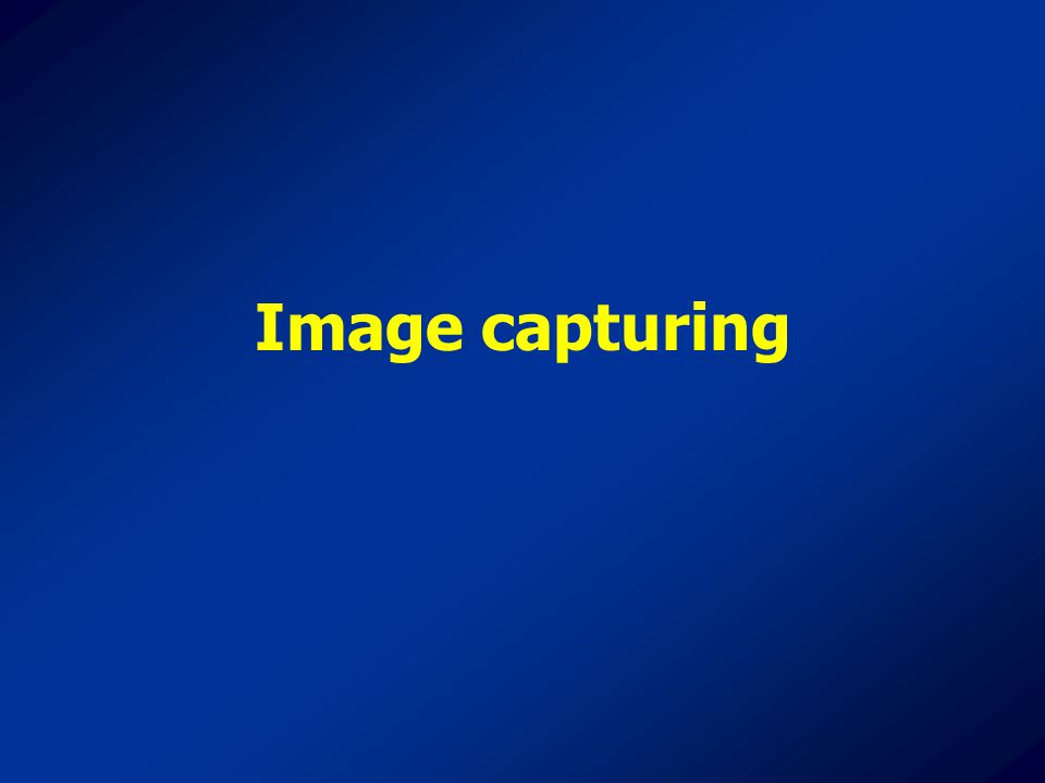 Image capturing