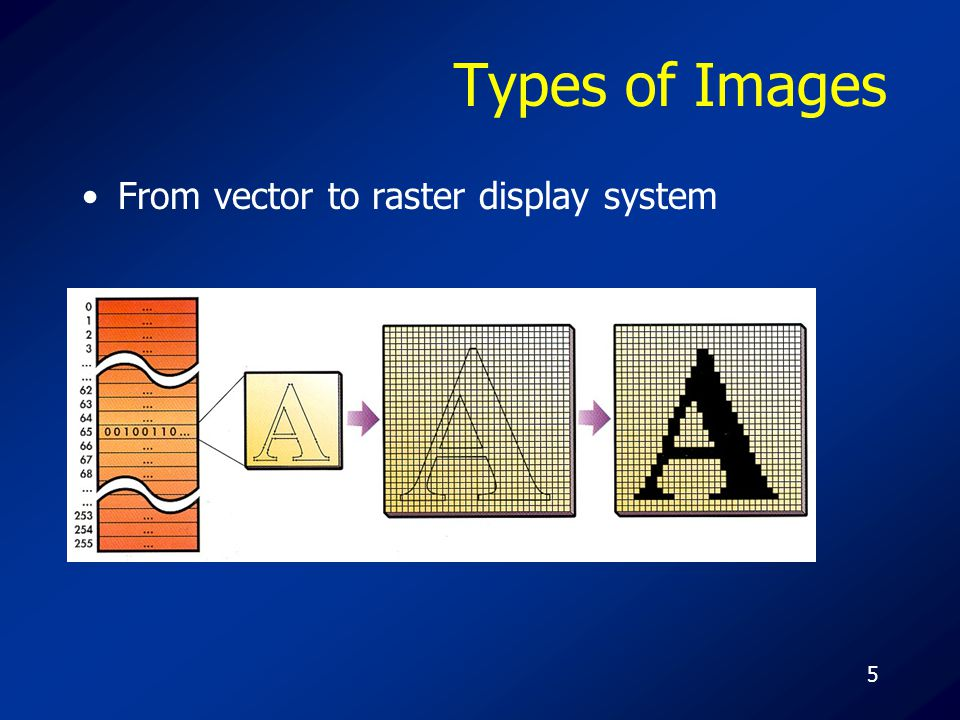 5 Types of Images From vector to raster display system