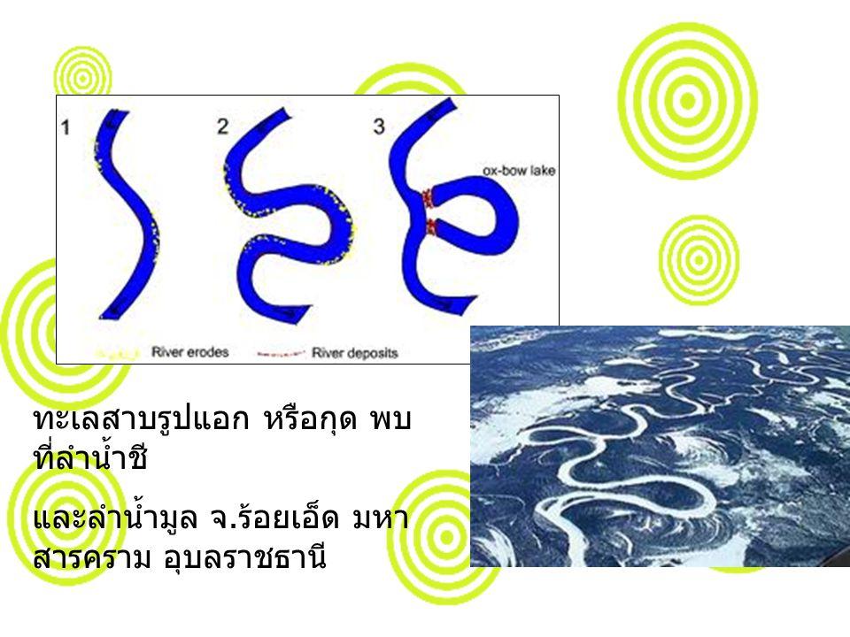 ทะเลสาบรูปแอก หรือกุด พบ ที่ลำน้ำชี และลำน้ำมูล จ. ร้อยเอ็ด มหา สารคราม อุบลราชธานี
