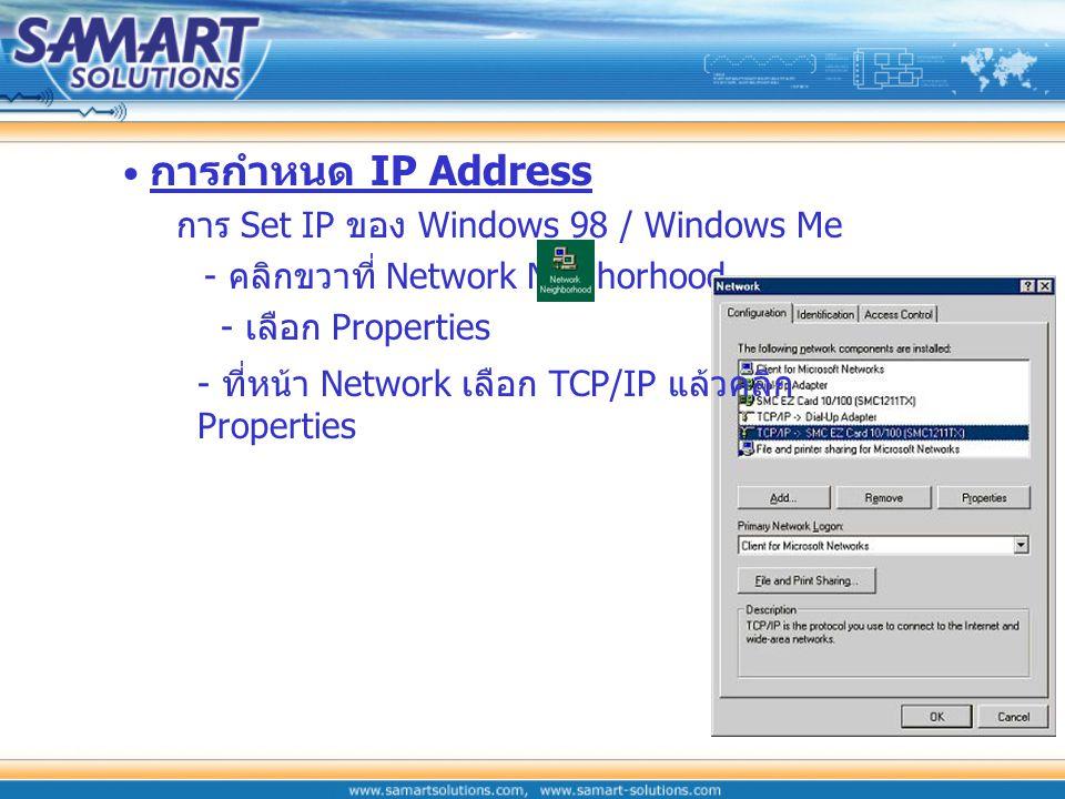 การกำหนด IP Address