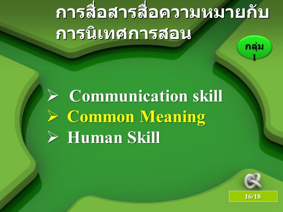 LOGO YOUR SITE HERE การสื่อสารสื่อความหมายกับ การนิเทศการสอน  Communication skill  Common Meaning  Human Skill กลุ่ม 1 16/18
