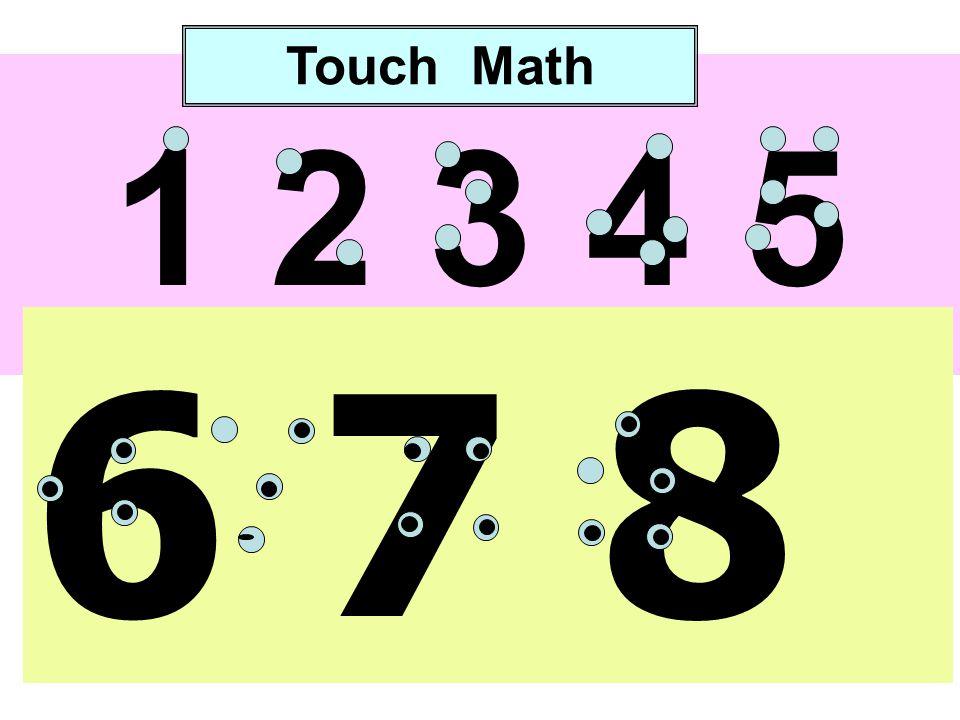 1 2 3 4 5 6 7 8 9 0 Touch Math