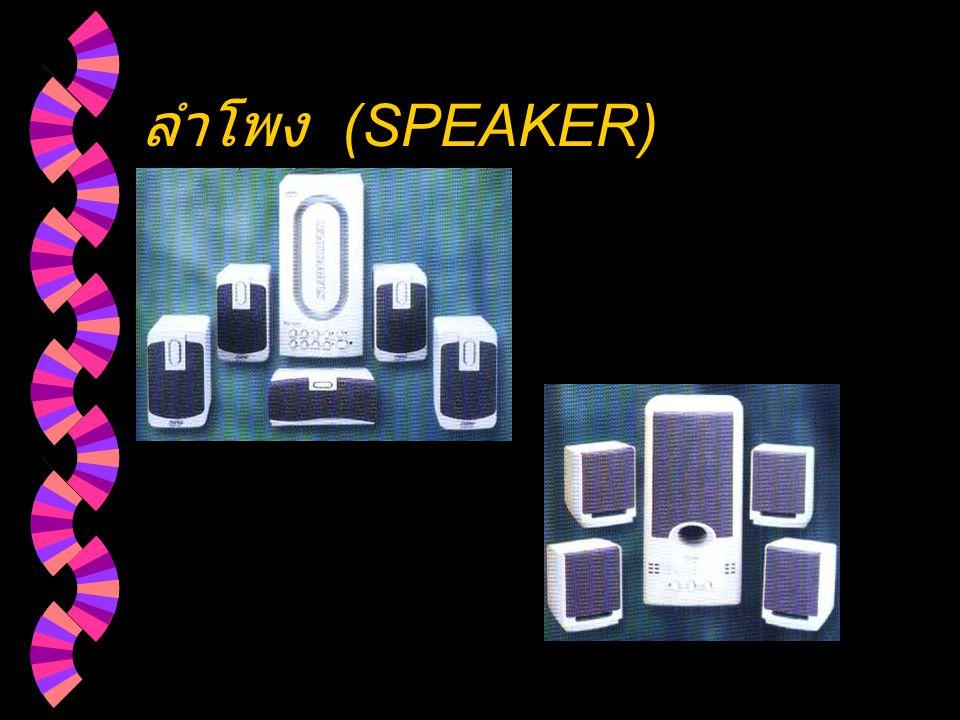 ลำโพง (SPEAKER)