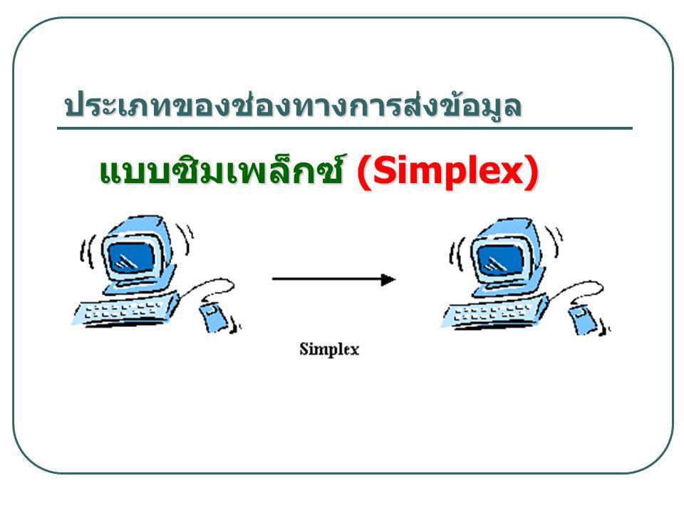 ประเภทของช่องทางการส่งข้อมูล แบบซิมเพล็กซ์ (Simplex)