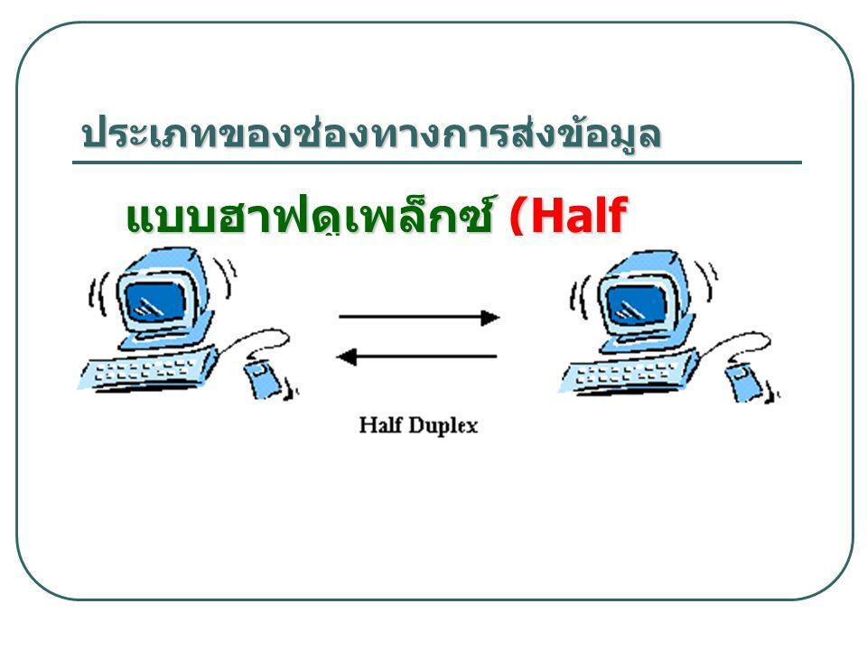 ประเภทของช่องทางการส่งข้อมูล แบบฮาฟดูเพล็กซ์ (Half Duplex)
