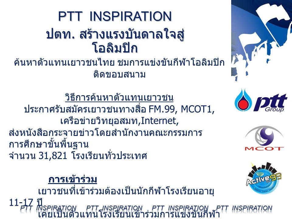 ค้นหาตัวแทนเยาวชนไทย ชมการแข่งขันกีฬาโอลิมปิก ติดขอบสนาม วิธีการค้นหาตัวแทนเยาวชน ประกาศรับสมัครเยาวชนทางสื่อ FM.99, MCOT1, เครือข่ายวิทยุอสมท,Interne