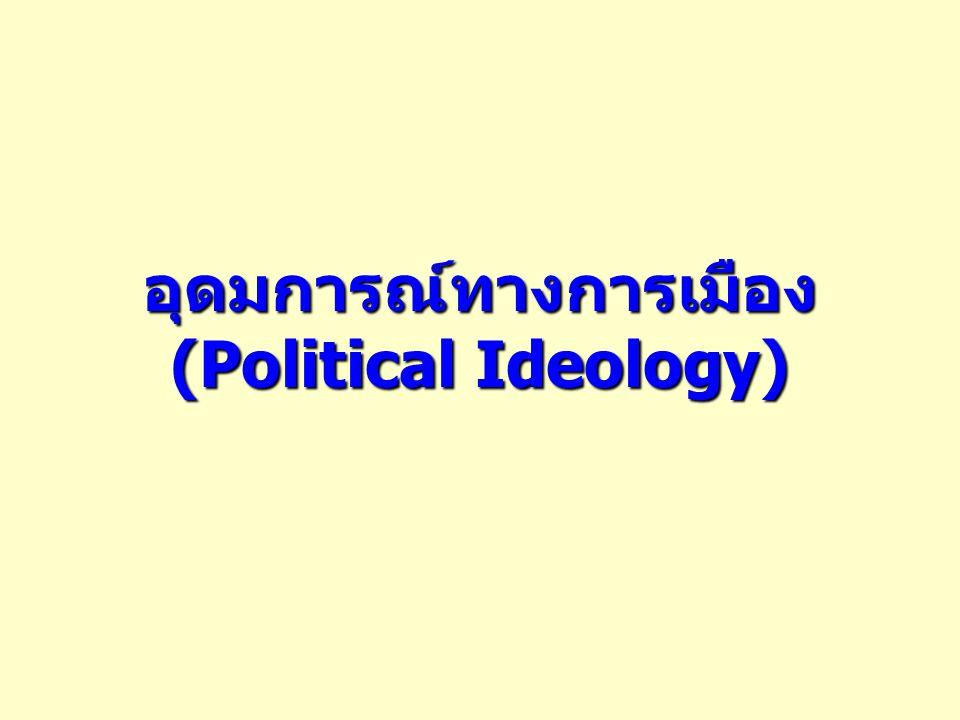 อุดมการณ์ทางการเมือง (Political Ideology)