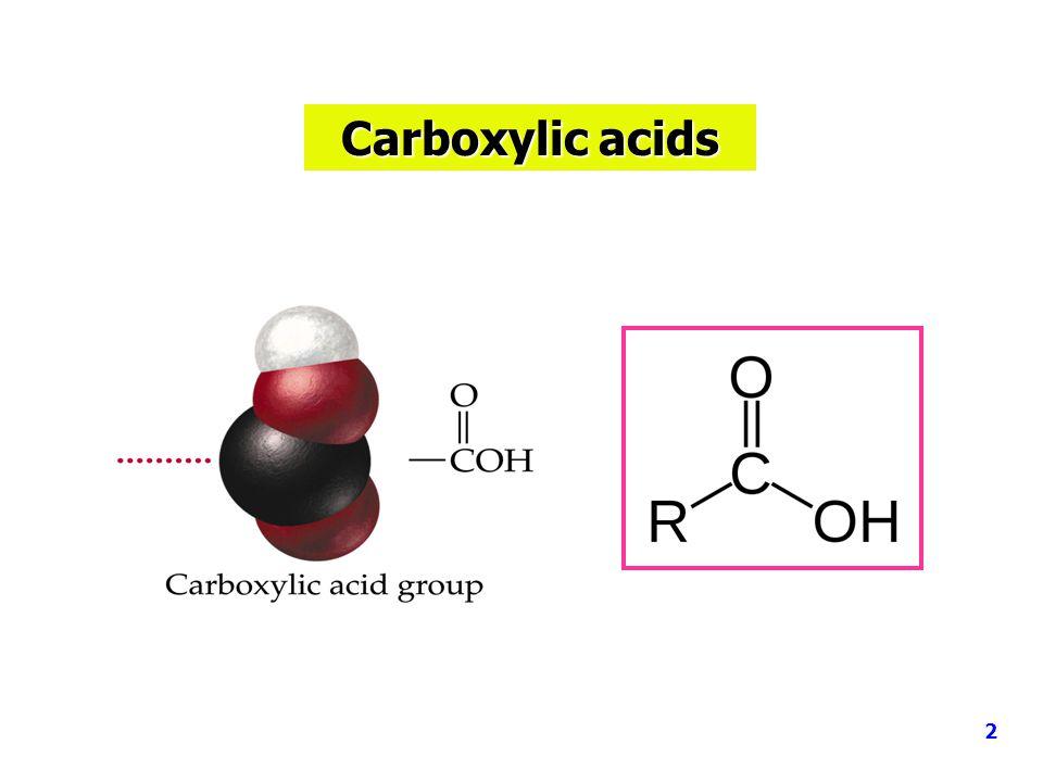 Acid-Base reactions 2 RCOOH + NaOH  2 RCOONa + H 2 O 2 RCOOH + Na 2 CO 3  2 RCOONa + CO 2 + H 2 O RCOOH + NaHCO 3  RCOONa + CO 2 + H 2 O 13