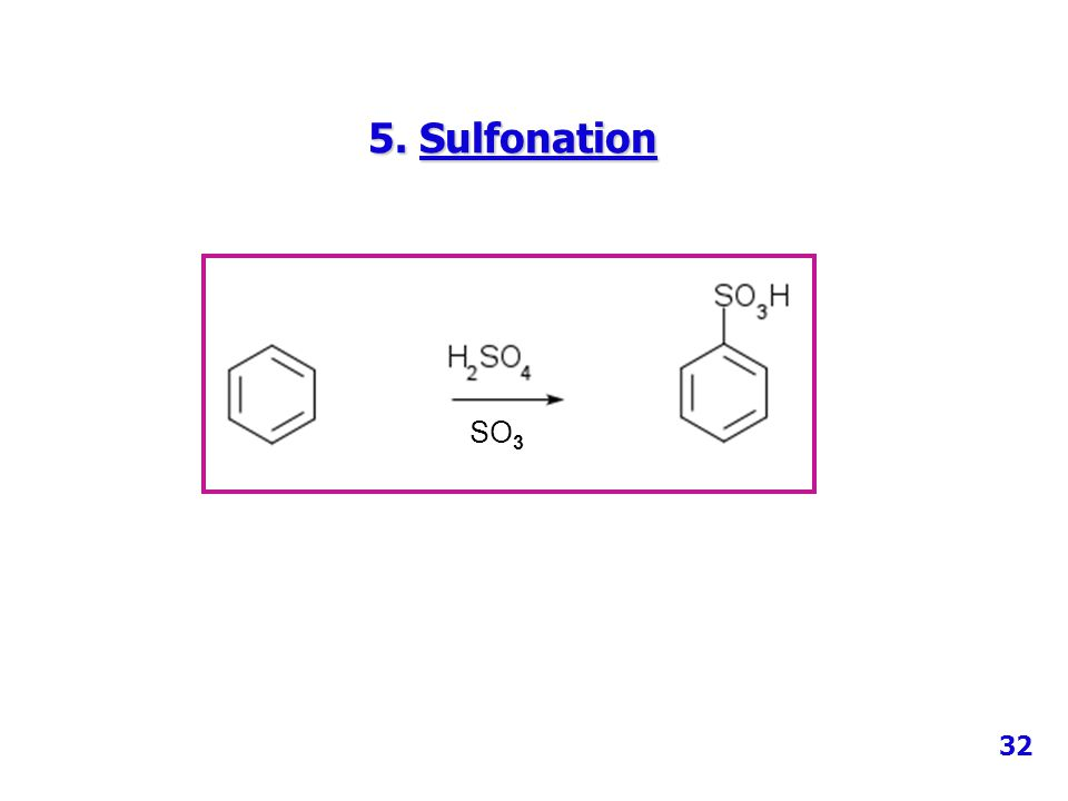 5. Sulfonation SO 3 32