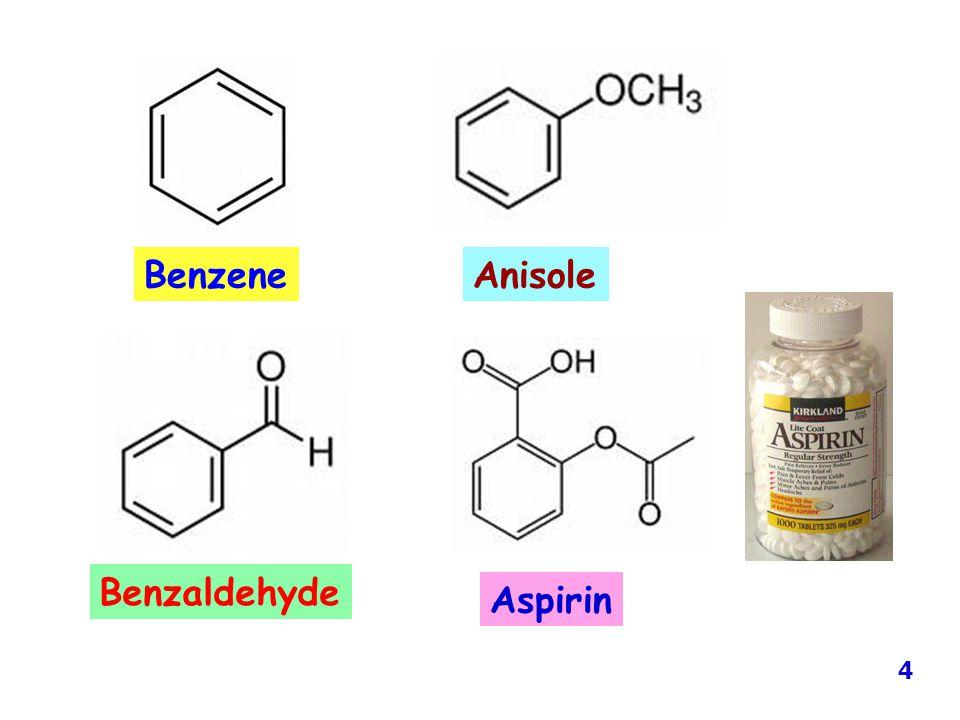 AnisoleBenzene Benzaldehyde Aspirin 4