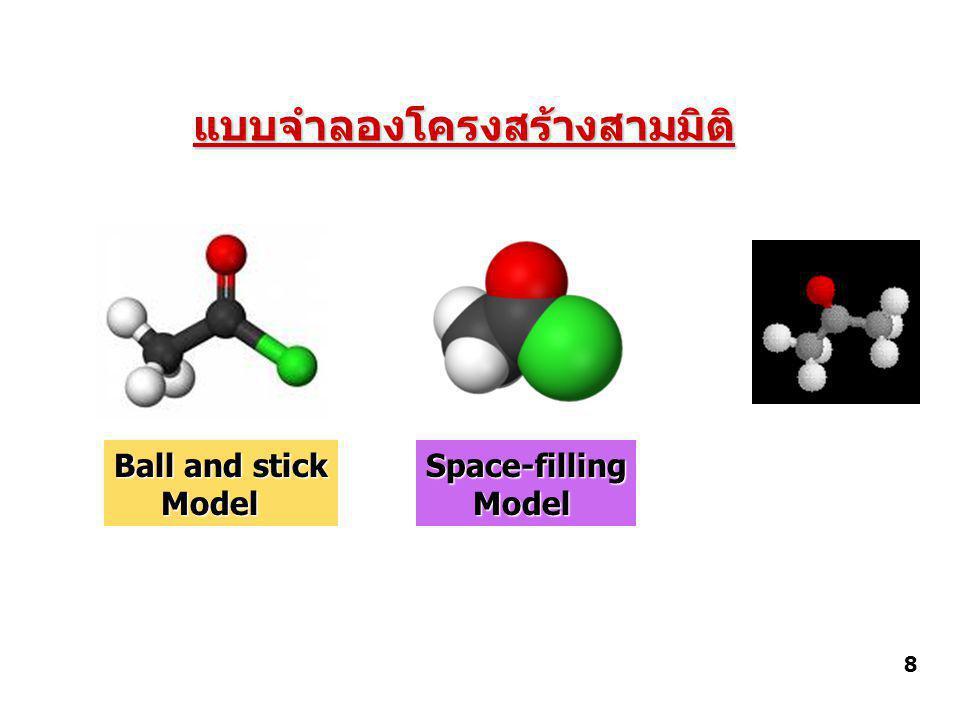 แบบจำลองโครงสร้างสามมิติ Ball and stick Model ModelSpace-filling 8