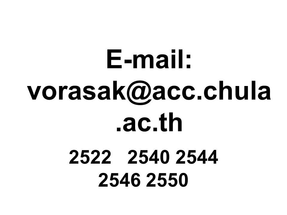 E-mail: vorasak@acc.chula.ac.th 2522 2540 2544 2546 2550