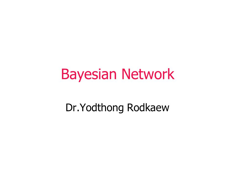 Joint Distributions for Bayes Nets A Bayesian Network implicitly defines a joint distribution.