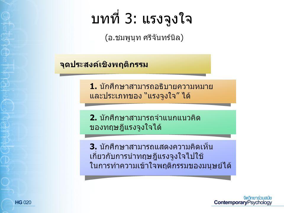 ทฤษฎีกลุ่มมนุษยนิยม(ต่อ) โดยมาสโลว์ได้อธิบายไว้ว่าแรงจูงใจเกิดจากความ ต้องการของมนุษย์ซึ่งจะเป็นไปตามลำดับขั้น ซึ่งมี 5 ขั้น ดังแผนภาพต่อไปนี้ ทฤษฎีลำดับขั้นความต้องการ (Maslow s hierarchy of needs)