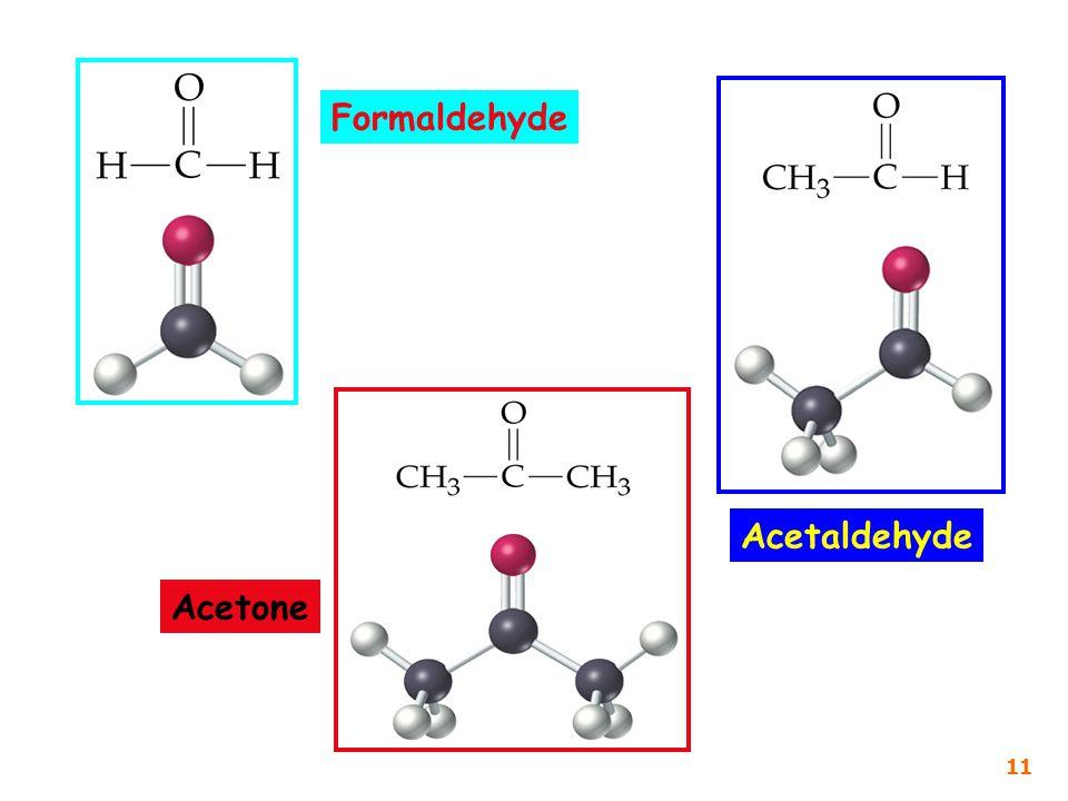 Formaldehyde Acetone Acetaldehyde 11