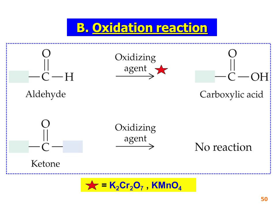 = K 2 Cr 2 O 7, KMnO 4 50 B. Oxidation reaction