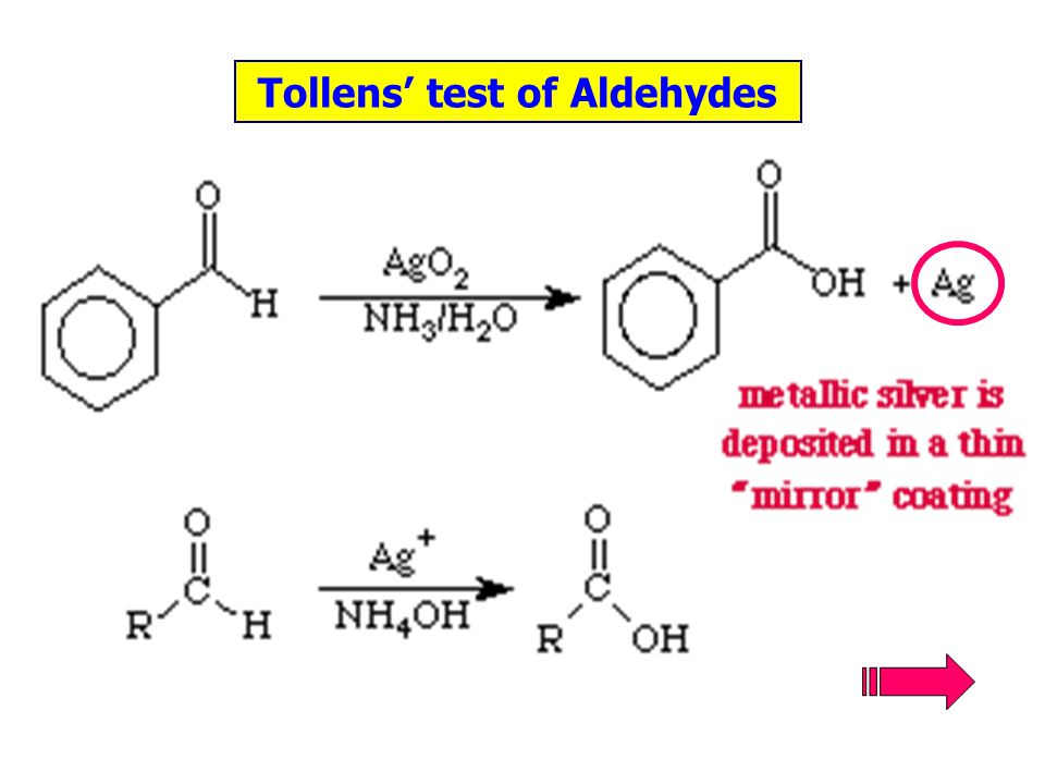 Tollens' test of Aldehydes