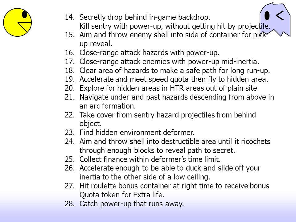 14.Secretly drop behind in-game backdrop.