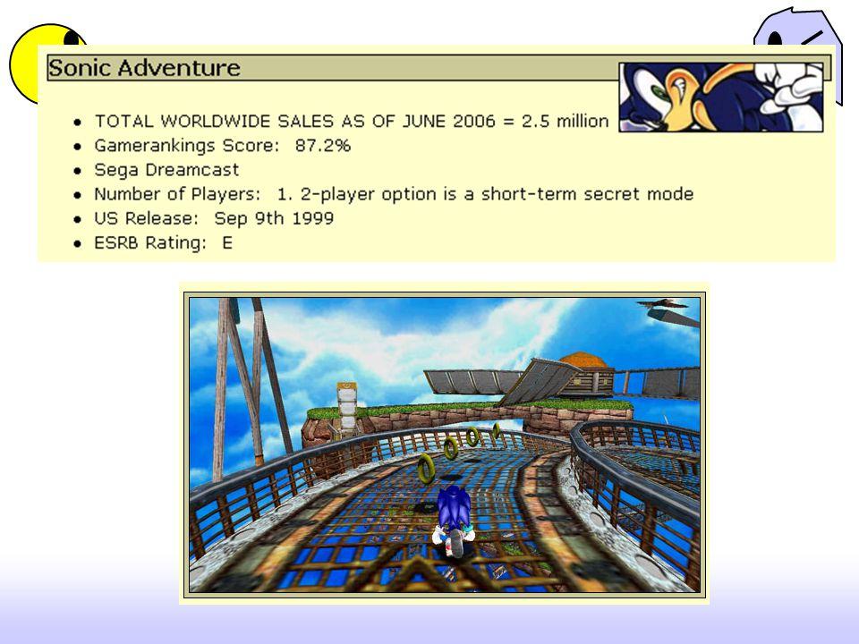 Controls : Criticize Control Tutorial?: เกมขายดี ไม่มี tutorials เนื่องจากมี คำอธิบายในคู่มือแล้ว / jak and Daxter, Super Mario Sunshine, Sonic Adventure มี tutorial – เห้นได้จัดเจนว่า เกมในยุคหลังๆ ควรจะมี tutorial จากความคาดหวังของผู้ เล่น Broken or Seamless Flow Between Action?: ตัวละครมี การเคลื่อนไหวในท่าทางที่แตกต่างกันจะมีท่างทางการ เคลื่อนไหวอย่างต่อเนื่องกันหรือไม่ – ชัดเจนว่าทุกเกมมี Input Sensitive Action?: ถ้าผู้เล่นเกมกดปุ่มค้างไว้ในระยะ เวลานานแตกต่างกัน จะมีผลต่อคัวเกมหรือไม่ -- ตั้งแต่ SMB3 เป็นต้นมาแสดงว่า ISA เป็นตัวแปรสำคัญที่เชื่อมโยง ความสอดคล้องกันระหว่างตัวละคร การกดปุ่ม และกับตัวผู้ เล่น