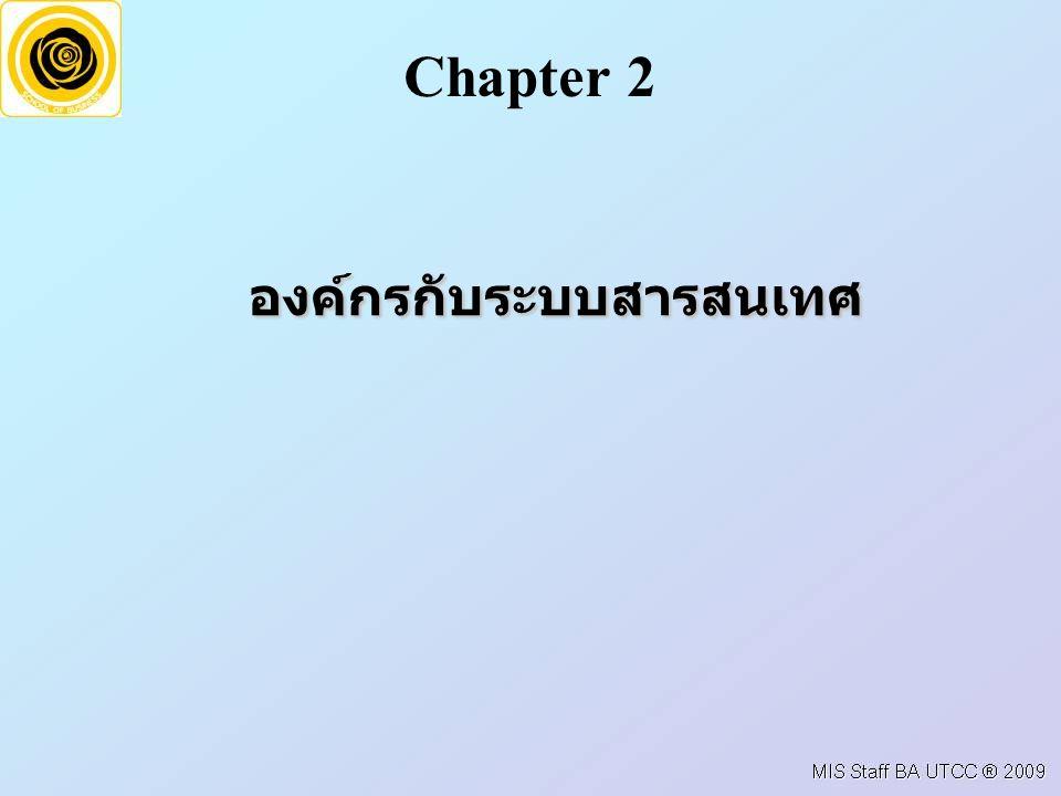 องค์กรกับระบบสารสนเทศ Chapter 2