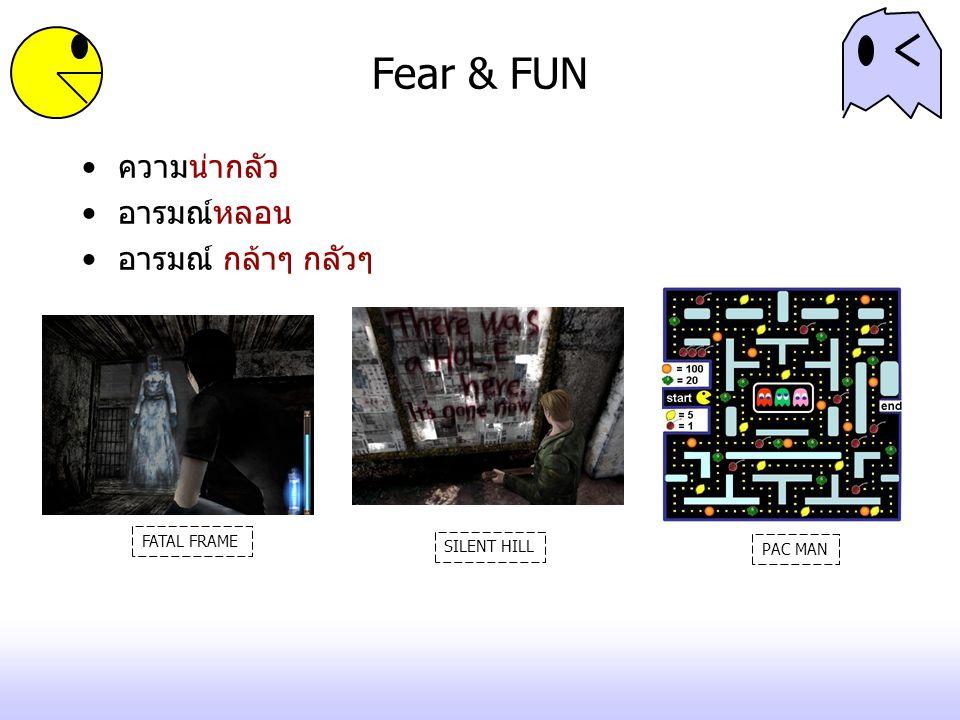 Fear & FUN ความน่ากลัว อารมณ์หลอน อารมณ์ กล้าๆ กลัวๆ FATAL FRAME SILENT HILL PAC MAN