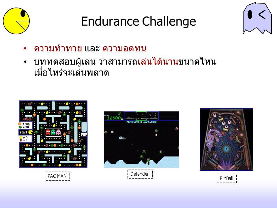 Memory/Knowledge Challenge ความท้าทายในการใช้ความรู้ ความจำ ใช้ความจำในการคิดคะแนน เช่นการจับคู่ไพ่ ใช้ความรู้ในการแก้ปัญหา เกมตอบคำถาม Where in Time is Carmen Sandiego.