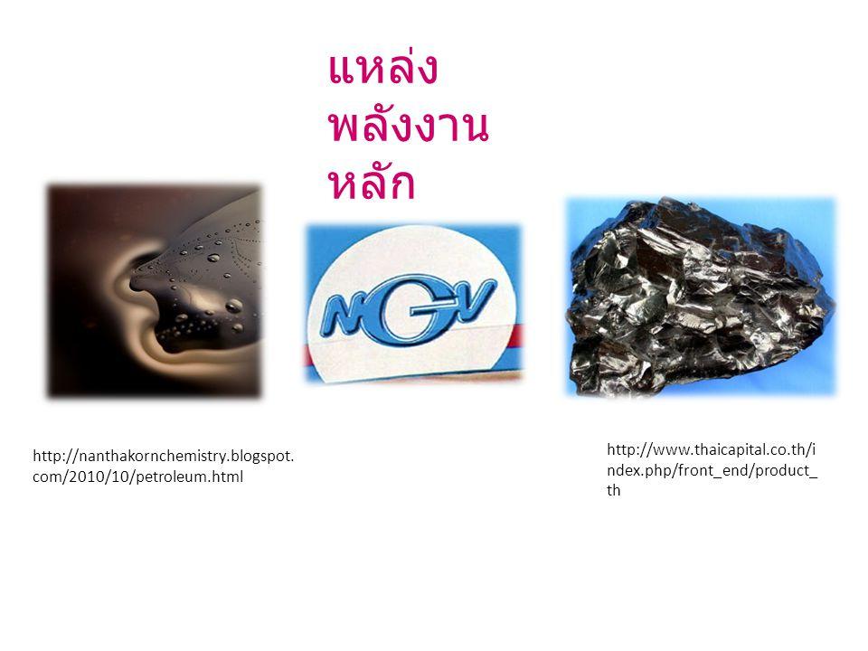 แหล่ง พลังงาน หลัก http://nanthakornchemistry.blogspot.