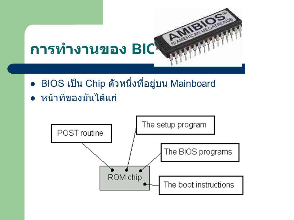 POST (Power-On Self Test) เป็นการทดสอบระบบสำหรับส่วนที่จำเป็นสำหรับการทำงาน ของ PC เมื่อเปิดเครื่องจะเริ่มเข้าสู่ขั้นตอนของ POST ก่อน VGA -> RAM ->Keyboard->….